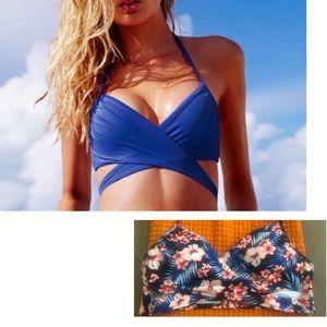 Victoria's Secret PINK Wrap bikini halter Top